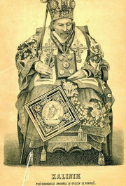 Inmormantarea episcopilor sezand pe scaun