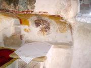 Incercarea Sfantului Neofit Zavoratul in timp ce sapa Pestera