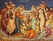 Lazar, cel inviat dupa patru zile, in iconografie