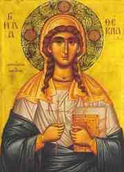 Sfanta Tecla, o sfanta din tinuturile noastre