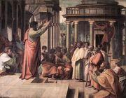 Discursul Sfantului Apostol Pavel in Areopagul atenian
