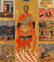 Icoana si moastele Sfantului Mina, la Biserica Sfantul Mina-Vergu