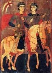 Sfintii Mucenici Serghie si Vah - Vach; Sfintii Mucenici Polihronie, Chesarie diaconul si Iulian preotul