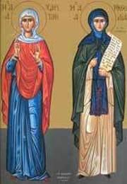 Sfintele Mucenite Haritina si Mamelta