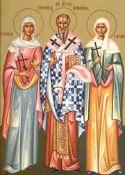 Sfantul Sfintit Mucenic Grigorie Luminatorul, Episcopul Armeniei; Sfintele Mucenite Ripsimia si Gaiani