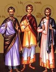 Sfintii Mucenici Platon, Romano si Zaheu diaconul