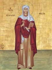 Sfanta Mare Mucenita si intocmai cu Apostolii Tecla; Sfantul Cuvios Coprie; Sfantul Cuvios Siluan Athonitul