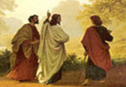 Aratarea lui Iisus la doi din ucenicii Sai, in drum spre Emaus