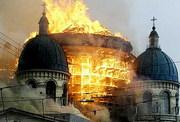 Catedrala distrusa de flacari in St. Petersburg