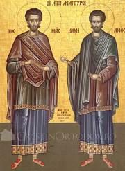 Viata si patimirea Sfintilor Mucenici Cosma si Damian
